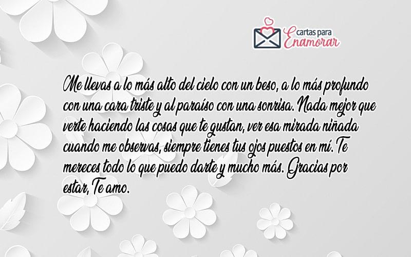 carta de amor para esposa