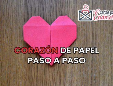 Corazón de papel para tu novia
