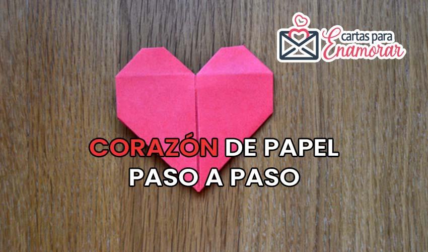 como hacer un corazon de papel paso a paso