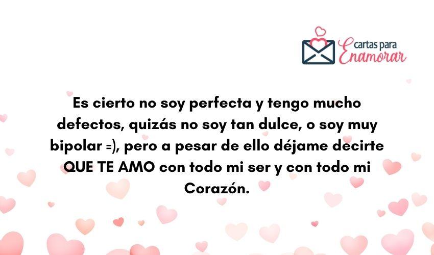 carta para mi novio romantica